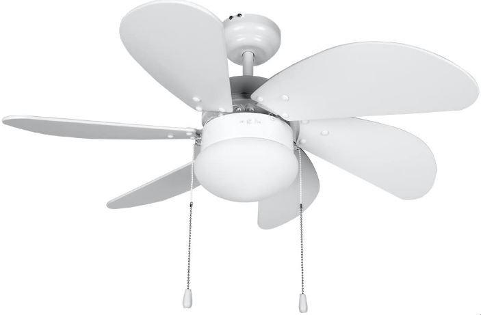 mejor ventilador con luz calidad precio Orbegozo CP 15076 B