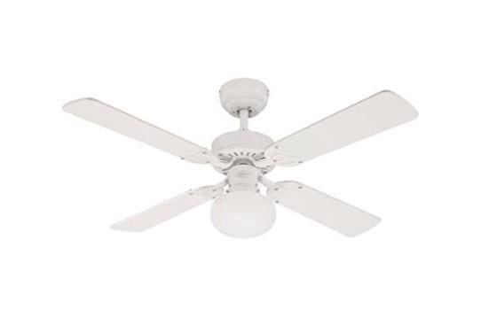 ventilador de techo con luz y blanco