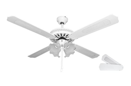 Ventilador de techo con luz , barato en color blanco