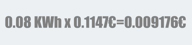 consumo de ventilador de techo en euros