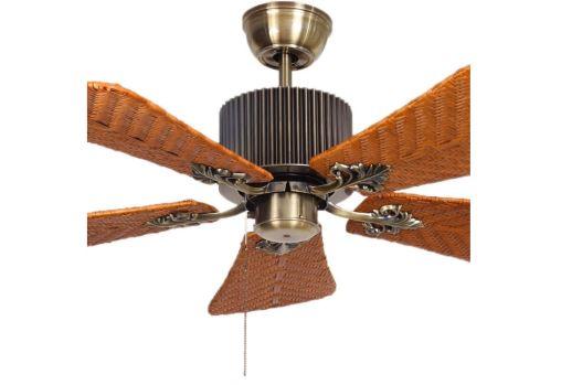 ventilador techo rattan sin luz